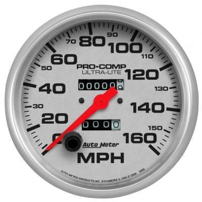 """Instrument Panel - Speedometer Gauge - AutoMeter - GAUGE, SPEEDOMETER, 5"""", 160MPH, MECHANICAL, ULTRA-LITE - 4495"""