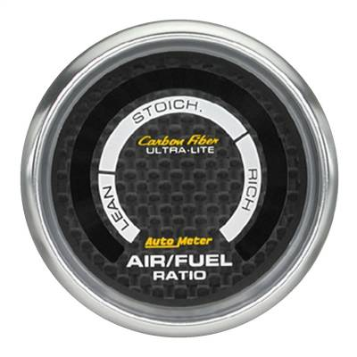 "AutoMeter - GAUGE, AIR/FUEL RATIO-NARROWBAND, 2 1/16"", LEAN-RICH, LED ARRAY, CARBON FIBER - 4775"
