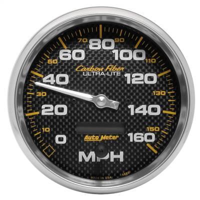 """Instrument Panel - Speedometer Gauge - AutoMeter - GAUGE, SPEEDOMETER, 5"""", 160MPH, ELEC. PROGRAMMABLE, CARBON FIBER - 4889"""