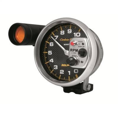 "Instrument Panel - Tachometer Gauge - AutoMeter - GAUGE, TACHOMETER, 5"", 10K RPM, PEDESTAL W/ EXT. SHIFT-LITE, CARBON FIBER - 4899"