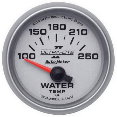 "Instrument Panel - Engine Coolant Temperature Gauge - AutoMeter - GAUGE, WATER TEMP, 2 1/16"", 100-250?F, ELECTRIC, ULTRA-LITE II - 4937"