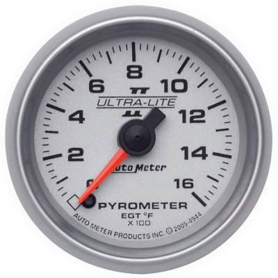 "Hand Tools - Pyrometer - AutoMeter - GAUGE, PYROMETER (EGT), 2 1/16"", 1600?F, DIGITAL STEPPER MOTOR, ULTRA-LITE II - 4944"