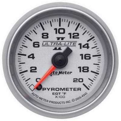 "Hand Tools - Pyrometer - AutoMeter - GAUGE, PYROMETER (EGT), 2 1/16"", 2000?F, DIGITAL STEPPER MOTOR, ULTRA-LITE II - 4945"