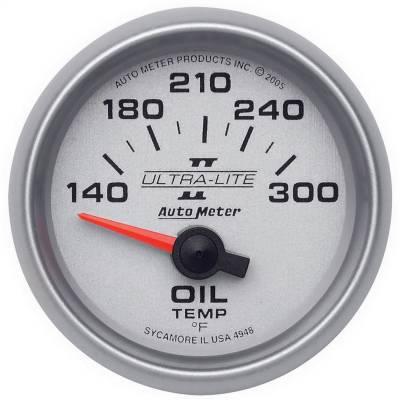 """Instrument Panel - Engine Oil Temperature Gauge - AutoMeter - GAUGE, OIL TEMP, 2 1/16"""", 140-300?F, ELECTRIC, ULTRA-LITE II - 4948"""
