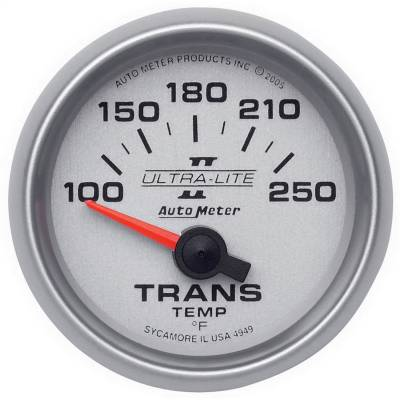 "GAUGE, TRANSMISSION TEMP, 2 1/16"", 100-250?F, ELECTRIC, ULTRA-LITE II - 4949"