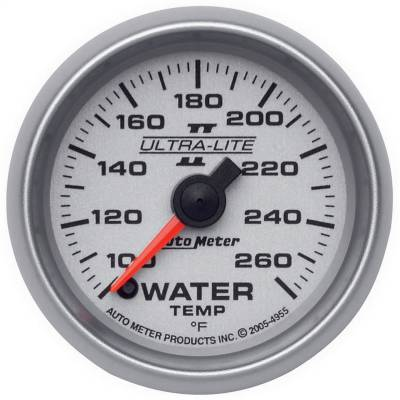 "Instrument Panel - Engine Coolant Temperature Gauge - AutoMeter - GAUGE, WATER TEMP, 2 1/16"", 100-260?F, DIGITAL STEPPER MOTOR, ULTRA-LITE II - 4955"