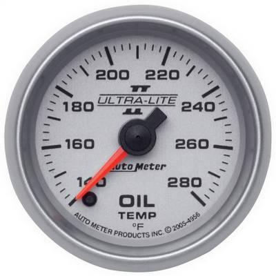 "Instrument Panel - Engine Oil Temperature Gauge - AutoMeter - GAUGE, OIL TEMP, 2 1/16"", 140-280?F, DIGITAL STEPPER MOTOR, ULTRA-LITE II - 4956"