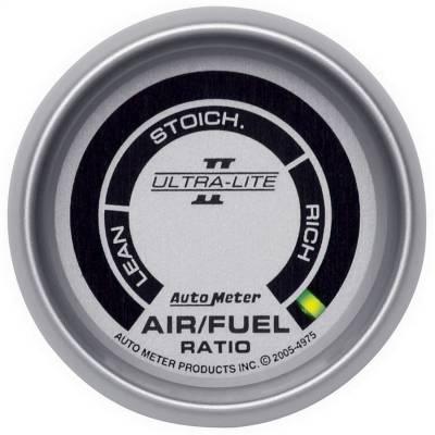 "Instrument Panel - Air / Fuel Ratio Gauge - AutoMeter - GAUGE, AIR/FUEL RATIO-NARROWBAND, 2 1/16"", LEAN-RICH, LED ARRAY, ULTRA-LITE II - 4975"