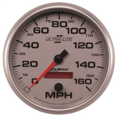 """Instrument Panel - Speedometer Gauge - AutoMeter - GAUGE, SPEEDOMETER, 5"""", 160MPH, ELEC. PROGRAMMABLE, ULTRA-LITE II - 4989"""