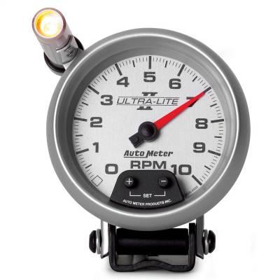 "Instrument Panel - Tachometer Gauge - AutoMeter - GAUGE, TACHOMETER, 3 3/4"", 10K RPM, PEDESTAL W/ EXT. QUICK-LITE, ULTRA-LITE II - 4990"