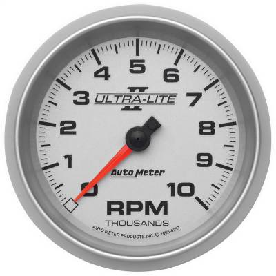 "Instrument Panel - Tachometer Gauge - AutoMeter - GAUGE, TACHOMETER, 3 3/8"", 10K RPM, IN-DASH, ULTRA-LITE II - 4997"