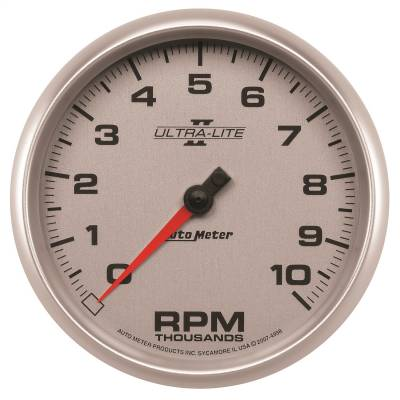 "Instrument Panel - Tachometer Gauge - AutoMeter - GAUGE, TACHOMETER, 5"", 10K RPM, IN-DASH, ULTRA-LITE II - 4998"