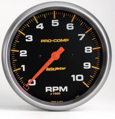"Instrument Panel - Tachometer Gauge - AutoMeter - GAUGE, TACHOMETER, 5"", 10K RPM, IN-DASH, PRO-COMP - 5160"
