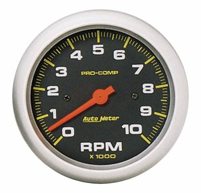 "Instrument Panel - Tachometer Gauge - AutoMeter - GAUGE, TACHOMETER, 3 3/8"", 10K RPM, IN-DASH, PRO-COMP - 5161"
