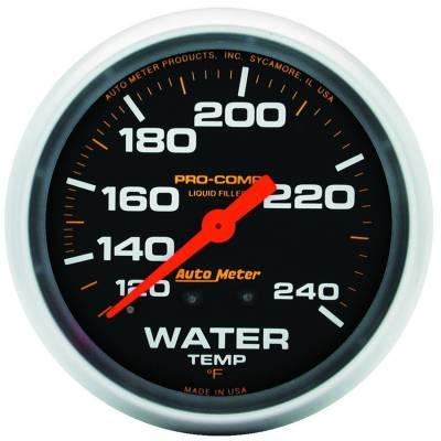 "Instrument Panel - Engine Coolant Temperature Gauge - AutoMeter - GAUGE, WATER TEMP, 2 5/8"", 120-240?F, LIQUID FILLED MECH, PRO-COMP - 5432"