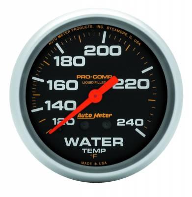 "Instrument Panel - Engine Coolant Temperature Gauge - AutoMeter - GAUGE, WATER TEMP, 2 5/8"", 120-240?F, LIQUID FILLED MECH, 12FT., PRO-COMP - 5433"