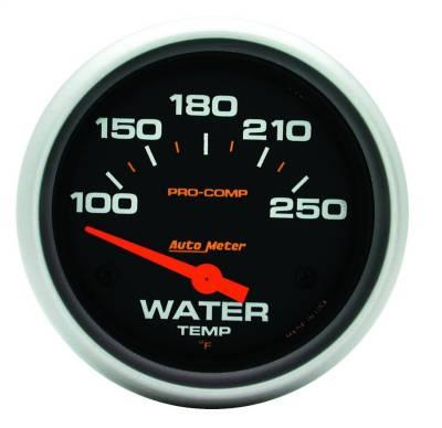 "Instrument Panel - Engine Coolant Temperature Gauge - AutoMeter - GAUGE, WATER TEMP, 2 5/8"", 100-250?F, ELECTRIC, PRO-COMP - 5437"