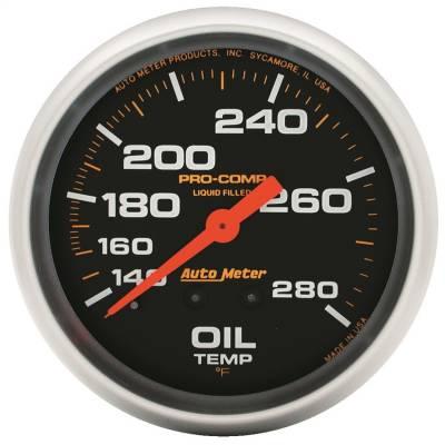 "Instrument Panel - Engine Oil Temperature Gauge - AutoMeter - GAUGE, OIL TEMP, 2 5/8"", 140-280?F, LIQUID FILLED MECH, PRO-COMP - 5441"
