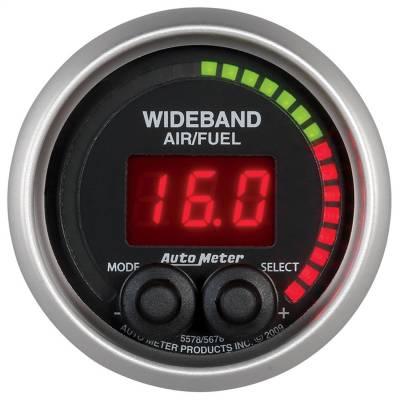 "Instrument Panel - Air / Fuel Ratio Gauge - AutoMeter - GAUGE, AIR/FUEL RATIO-PRO, 2 1/16"", 10:1-20:1, DIGITAL W/ PEAK & WARN, ELITE - 5678"