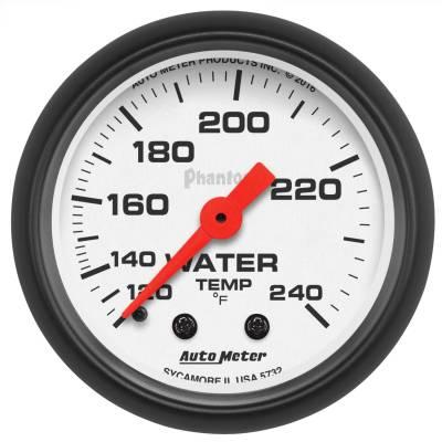 "Instrument Panel - Engine Coolant Temperature Gauge - AutoMeter - GAUGE, WATER TEMP, 2 1/16"", 120-240?F, MECHANICAL, PHANTOM - 5732"