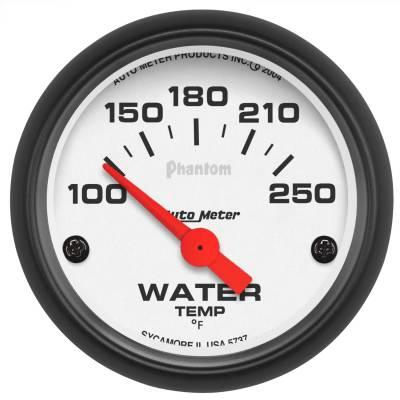 "Instrument Panel - Engine Coolant Temperature Gauge - AutoMeter - GAUGE, WATER TEMP, 2 1/16"", 100-250?F, ELECTRIC, PHANTOM - 5737"