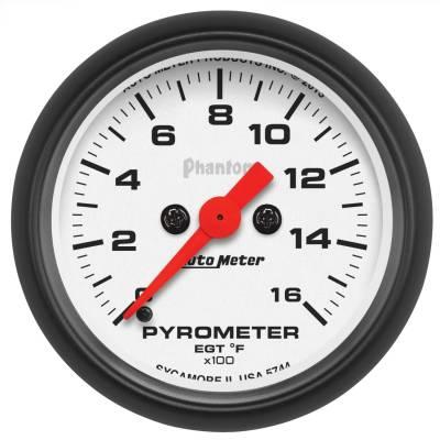 "Hand Tools - Pyrometer - AutoMeter - GAUGE, PYROMETER (EGT), 2 1/16"", 1600?F, DIGITAL STEPPER MOTOR, PHANTOM - 5744"