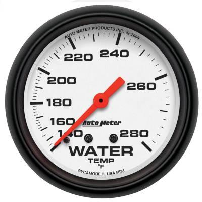 "Instrument Panel - Engine Coolant Temperature Gauge - AutoMeter - GAUGE, WATER TEMP, 2 5/8"", 140-280?F, MECHANICAL, PHANTOM - 5831"