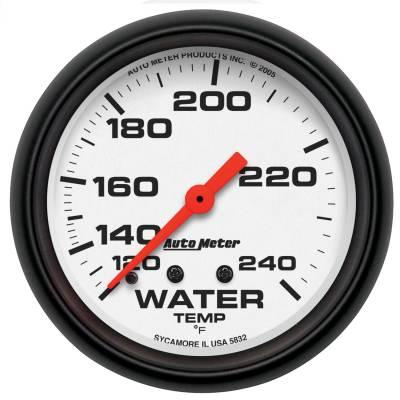 "Instrument Panel - Engine Coolant Temperature Gauge - AutoMeter - GAUGE, WATER TEMP, 2 5/8"", 120-240?F, MECHANICAL, PHANTOM - 5832"