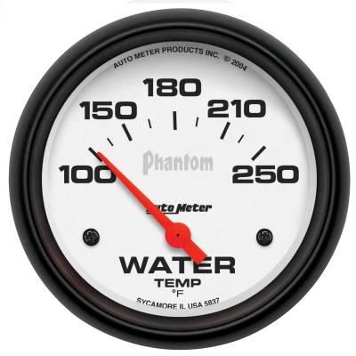 "Instrument Panel - Engine Coolant Temperature Gauge - AutoMeter - GAUGE, WATER TEMP, 2 5/8"", 100-250?F, ELECTRIC, PHANTOM - 5837"