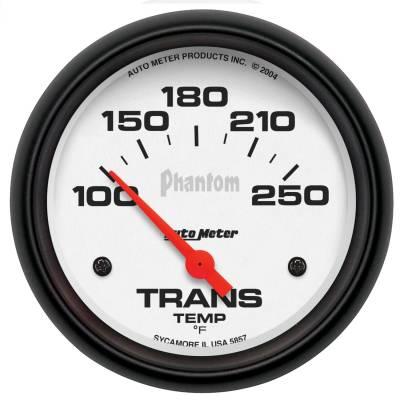 "GAUGE, TRANSMISSION TEMP, 2 5/8"", 100-250?F, ELECTRIC, PHANTOM - 5857"