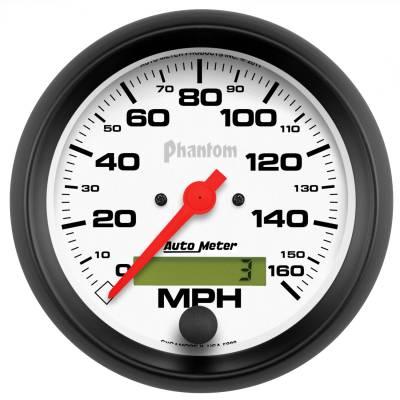 """Instrument Panel - Speedometer Gauge - AutoMeter - GAUGE, SPEEDO, 3 3/8"""", 160MPH, ELEC. PROGRAM W/ LCD ODO, PHANTOM - 5888"""