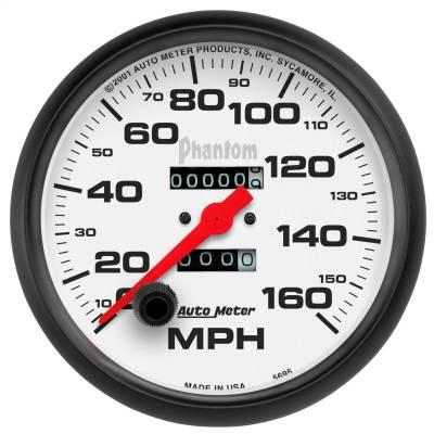 """Instrument Panel - Speedometer Gauge - AutoMeter - GAUGE, SPEEDOMETER, 5"""", 160MPH, MECHANICAL, PHANTOM - 5895"""