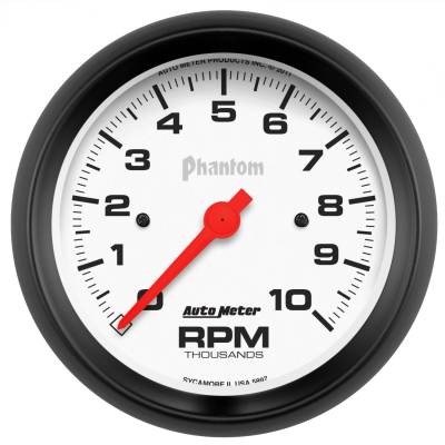 "Instrument Panel - Tachometer Gauge - AutoMeter - GAUGE, TACHOMETER, 3 3/8"", 10K RPM, IN-DASH, PHANTOM - 5897"