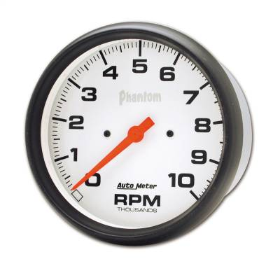 "Instrument Panel - Tachometer Gauge - AutoMeter - GAUGE, TACHOMETER, 5"", 10K RPM, IN-DASH, PHANTOM - 5898"
