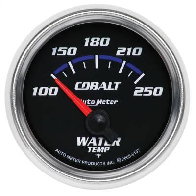 "Instrument Panel - Engine Coolant Temperature Gauge - AutoMeter - GAUGE, WATER TEMP, 2 1/16"", 100-250?F, ELECTRIC, COBALT - 6137"