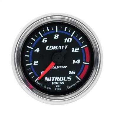 "Nitrous Oxide Injection System - Nitrous Oxide Pressure Gauge - AutoMeter - GAUGE, NITROUS PRESSURE, 2 1/16"", 1600PSI, DIGITAL STEPPER MOTOR, COBALT - 6174"