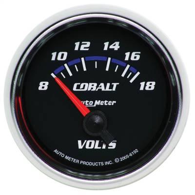 """Instrument Panel - Voltmeter Gauge - AutoMeter - GAUGE, VOLTMETER, 2 1/16"""", 18V, ELECTRIC, COBALT - 6192"""