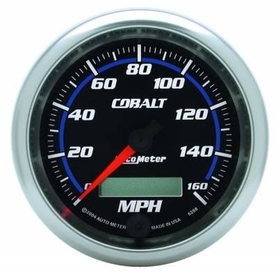 """Instrument Panel - Speedometer Gauge - AutoMeter - GAUGE, SPEEDOMETER, 3 3/8"""", 160MPH, ELEC. PROGRAMMABLE, COBALT - 6288"""