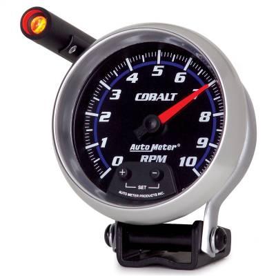 "Instrument Panel - Tachometer Gauge - AutoMeter - GAUGE, TACHOMETER, 3 3/4"", 10K RPM, PEDESTAL W/ EXT. QUICK-LITE, COBALT - 6290"