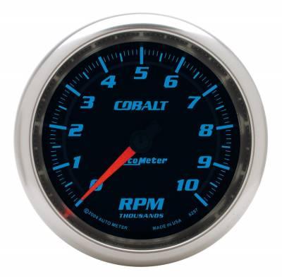 "Instrument Panel - Tachometer Gauge - AutoMeter - GAUGE, TACHOMETER, 3 3/8"", 10K RPM, IN-DASH, COBALT - 6297"