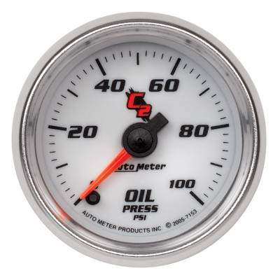 """Instrument Panel - Engine Oil Pressure Gauge - AutoMeter - GAUGE, OIL PRESSURE, 2 1/16"""", 100PSI, DIGITAL STEPPER MOTOR, C2 - 7153"""