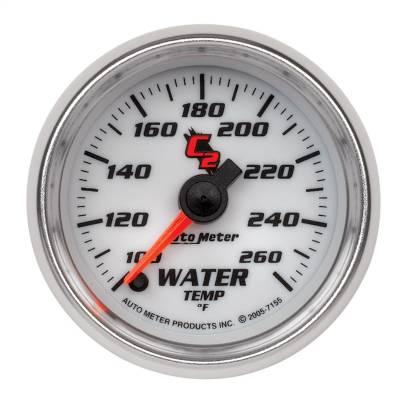 "Instrument Panel - Engine Coolant Temperature Gauge - AutoMeter - GAUGE, WATER TEMP, 2 1/16"", 100-260?F, DIGITAL STEPPER MOTOR, C2 - 7155"