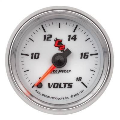 """Instrument Panel - Voltmeter Gauge - AutoMeter - GAUGE, VOLTMETER, 2 1/16"""", 18V, DIGITAL STEPPER MOTOR, C2 - 7191"""