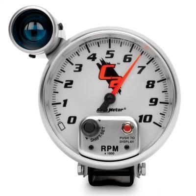"Instrument Panel - Tachometer Gauge - AutoMeter - GAUGE, TACHOMETER, 5"", 10K RPM, PEDESTAL W/ EXT. SHIFT-LITE, C2 - 7299"