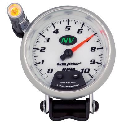 "Instrument Panel - Tachometer Gauge - AutoMeter - GAUGE, TACHOMETER, 3 3/4"", 10K RPM, PEDESTAL W/ EXT. QUICK-LITE, NV - 7390"