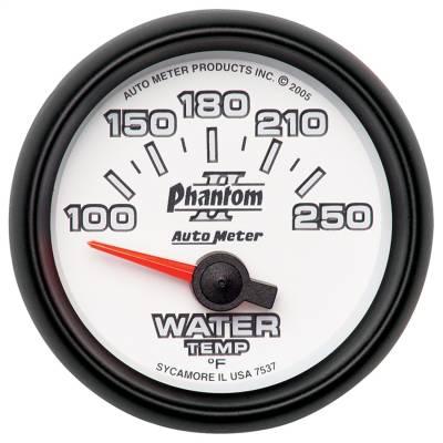 "Instrument Panel - Engine Coolant Temperature Gauge - AutoMeter - GAUGE, WATER TEMP, 2 1/16"", 100-250?F, ELECTRIC, PHANTOM II - 7537"