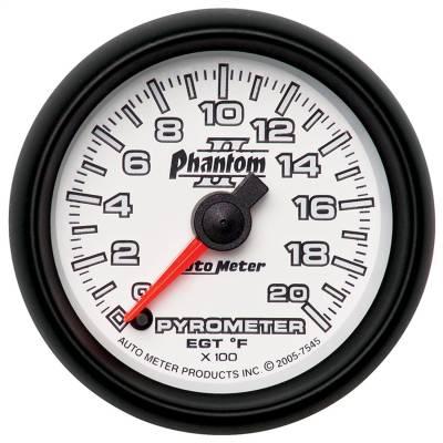 "Hand Tools - Pyrometer - AutoMeter - GAUGE, PYROMETER (EGT), 2 1/16"", 2000?F, DIGITAL STEPPER MOTOR, PHANTOM II - 7545"