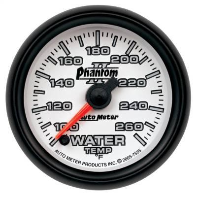 "Instrument Panel - Engine Coolant Temperature Gauge - AutoMeter - GAUGE, WATER TEMP, 2 1/16"", 100-260?F, DIGITAL STEPPER MOTOR, PHANTOM II - 7555"