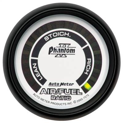 "AutoMeter - GAUGE, AIR/FUEL RATIO-NARROWBAND, 2 1/16"", LEAN-RICH, LED ARRAY, PHANTOM II - 7575"
