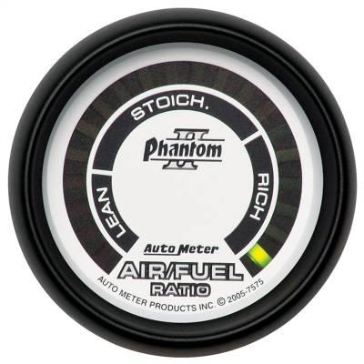 "GAUGE, AIR/FUEL RATIO-NARROWBAND, 2 1/16"", LEAN-RICH, LED ARRAY, PHANTOM II - 7575"